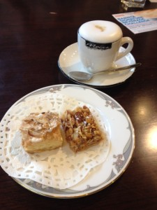 Caramel Macchiato, Mille Feille and a Florentine