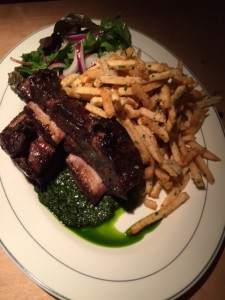 Argentine style grilled beef short ribs