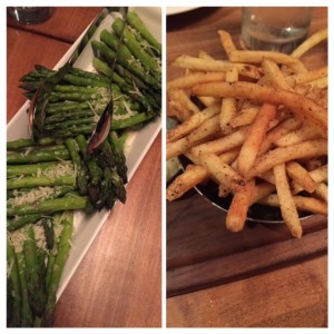 Asparagus and Peppered frites