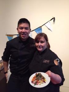 Chef Karen McAthy (right) of Graze Restaurant