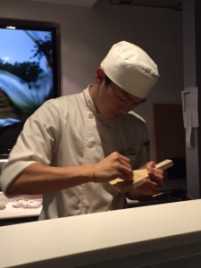 Sushi Chef Dan Kim  at Fairmont Pacific Rim Raw Bar