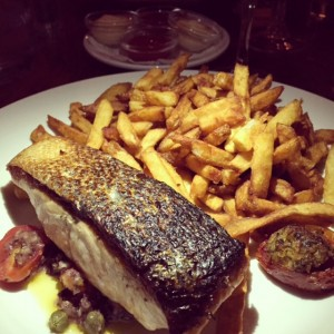Pan Seared Salmon Provencal