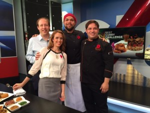 On the Global BC Weekend Noon News with host Leigh Kjekstad  with Chefs Nourdine ofMorocco West and Culin of Calabash Bistro #CurryChallengeYVR