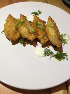 Fried Potato and Cheddar Perogies