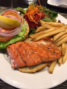 Grilled BC Salmon Sandwich