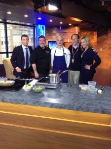 On CTV Vancouver with hosts Brent Shearer and Keri Adams along with Celebrity Chef Jason Rosso and Chef Tony Marzo!