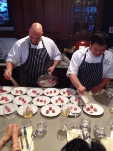 Chef Montgomery Lau (right) & Chef Anthony Ricco (left)