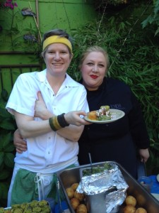 Chef Allison Flook and Chef Shelome Bouvette at Chicha Restaurant
