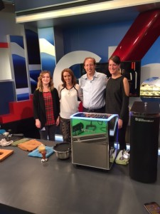 "On the Global BC Weekends Saturday News with host Leigh Kjekstad and baristas Erika of Stir Coffee House & Sophie of Momento Coffee on ""Saturday Sips"" #BaristaChallengeYVR"