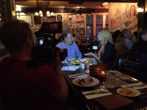 Richard Wolak being interviewed by Alyssa Dawson Host of Novus TV at Tasting Plates.