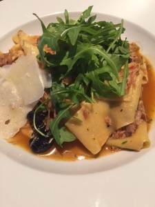 Pappardelle with braised rabbit