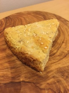 Lemon almond shortbread