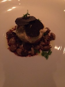 Veal Neptune With Crab and black truffles;