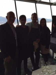 Bill Hardy (left), and Chef Nicolas Hipperson (2nd from right)