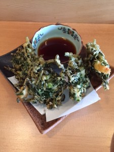 Chopped Kale & Prawn Karage Tempura