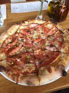 Pistachio Mortadella Pizza