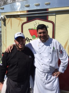 Chef Joseph Thomas (Mobile Operations on Left) and Executive Chef David Speight (Catering, Restaurants and Mobile Food Operations on Right)