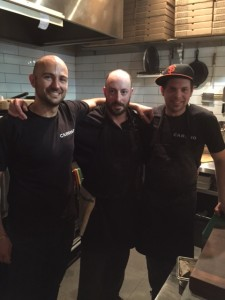 Chef Trevor Hagenbuch (middle), Mark Romic (left) and other chef (right)