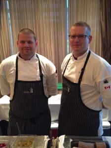Chef Rob Cordonier of Hillside Winery Bistro (right)