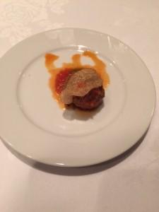Braised Venison & Bacon Polpette