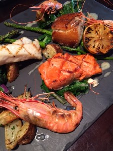 BC Spot Prawns and Trio of fresh fish