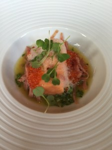 Poached trout,
