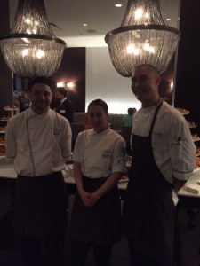Chefs Kevin Walker (left), Andrea Fletcher (middle) Elliott Hashimoto (right)