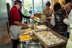 Miku Restaurant chefs plating their Sushi