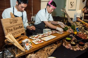 Chef Takayuki Omi (R) of #therawbar at Fairmont Pacific