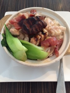 Seared Fois Gras, Chicken & Sausage claypot rice