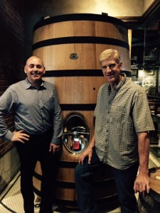 Darryll Frost, president and founder of Central City Brewers + Distillers (left) and Gary Lohin, Brewmaster (right)