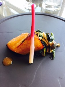 Sablefish baked in ginger miso,
