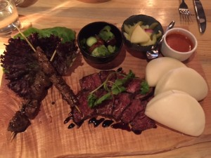 36 hour Miso Short Rib Bao Board