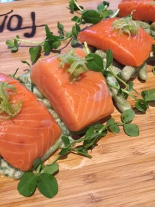 Lightly smoked Pacific Provider spring salmon