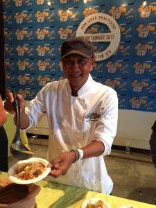 Chef Tai of Bob Likes Thai Food at the Indian Summer Festival Gala.