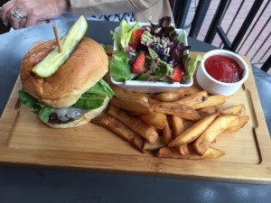 Bison Burger with fries
