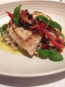 Halibut with puttanesca