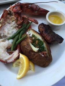 Steak and Half Lobster