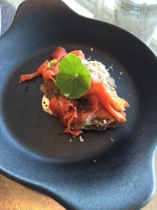 In house cured smoked salmon