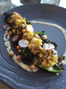 Crispy Cauliflower Tahini Kale