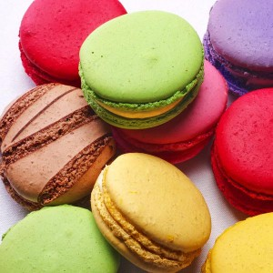 Rainbow Colours Macarons