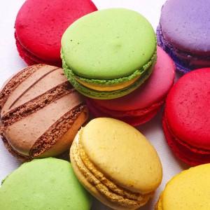 Rainbow Colours Macarons