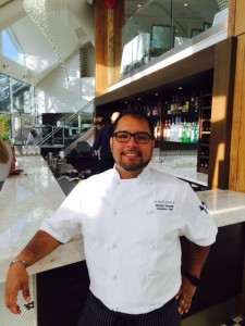 Executive Chef Ricardo Valverde at Ancora Dining.