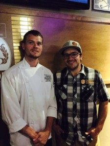 Chef Bill Taylor (left) and Brewmaster Andrew Harris (right)
