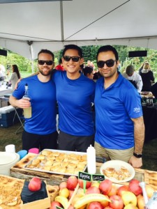 Executive Chef Karan Suri (right) and Chef Jay Harris (middle) of Globe at YVR of Fairmont Vancouver Airport at Feast of Fields.