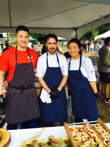 Chef Keith Pears, Chef James Thomson and Chef Candice Low of EBO Restaurant.