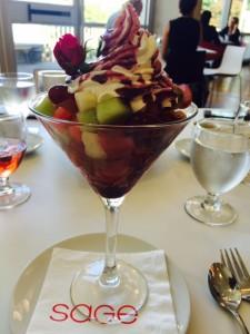 Fresh Fruit & Marscapone Cream