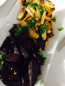 Roasted local beets and parsnips