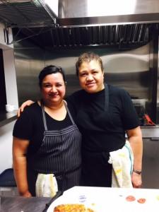Head Chefs Reinery Figueroa (left) and Maritza Orellana (right)