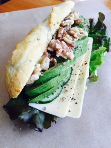 Walnuts and Avocado Baguette